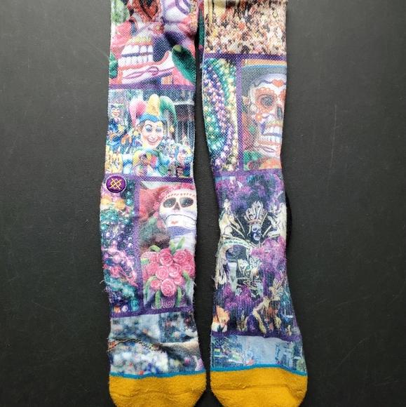 Stance Mardi Gras Basketball Socks Men's L/XL